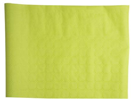 Limegrön engångsduk. Avtorkningsbar och tålig. Mått 8m x 1,2m