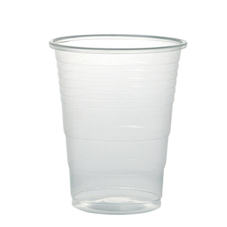 Transparent plastglas tillverkat av polypropylen plast. Volym 21cl.