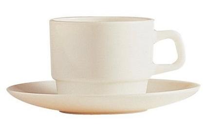 Kaffekopp med fat Arcoroc 23 cl
