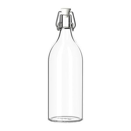 Karaff med Kork 1 liter. Höjd 29 cm.