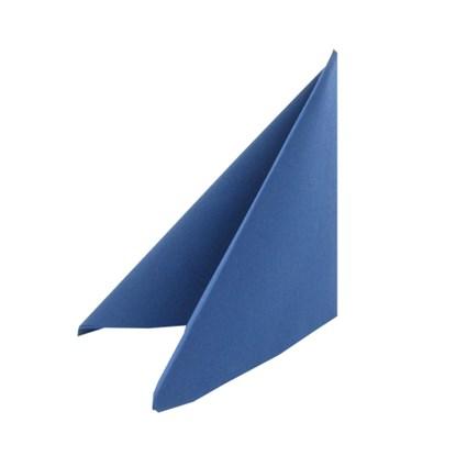 Mörkblå Premium Servett. Mått 40 x 40 cm.
