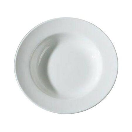 Djup Tallrik Strasbourg 21,5 cm Ø. Färg vit.